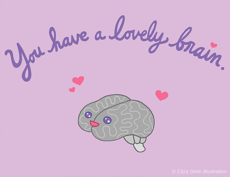 Lovely Brain Illustration