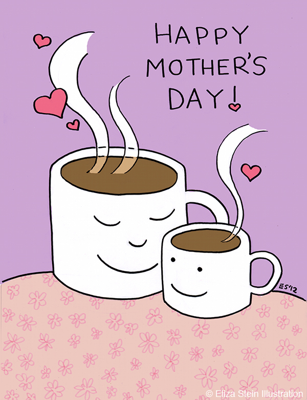 Mothers Day Coffee Illustration