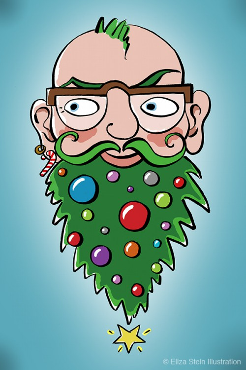 Christmas Beard Illustration