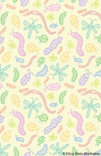 Pastel Bugs Pattern