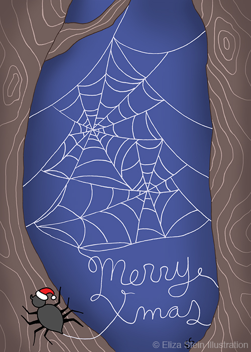 Spider Christmas Card