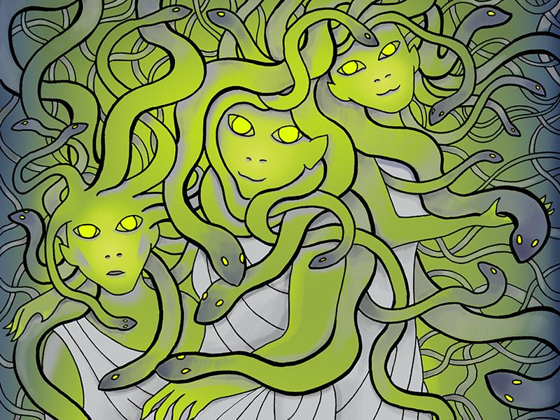 Gorgon Sisters Illustration