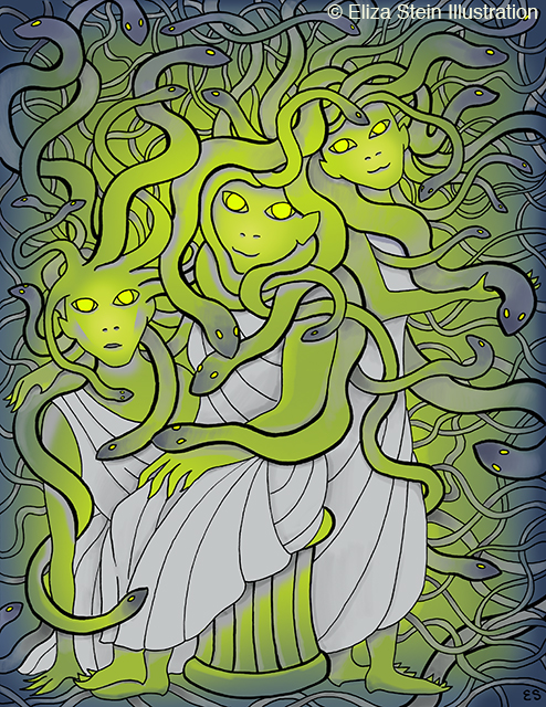 Gorgon Sisters Illustration