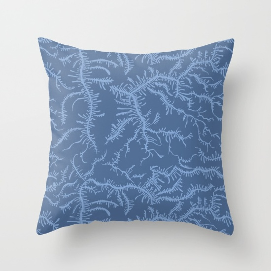 Ferning Blue Pillow Photo