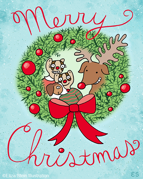 Rudolph and Friends Illustration