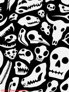 Skull Pattern Black and White