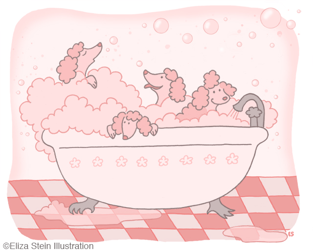 Bubble Bath Illustration