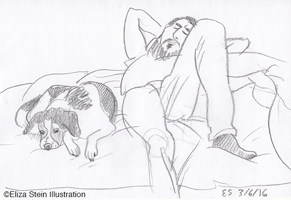 Dog and Man Sketch