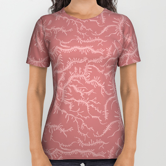 Ferning Dusty Rose Tshirt Photo