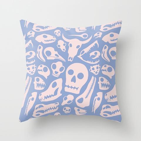 Soft Skulls Pillow