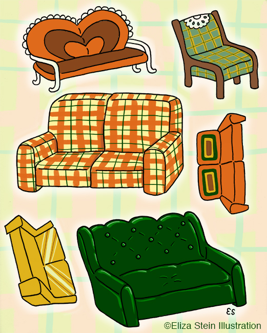Ugly 70s Couches