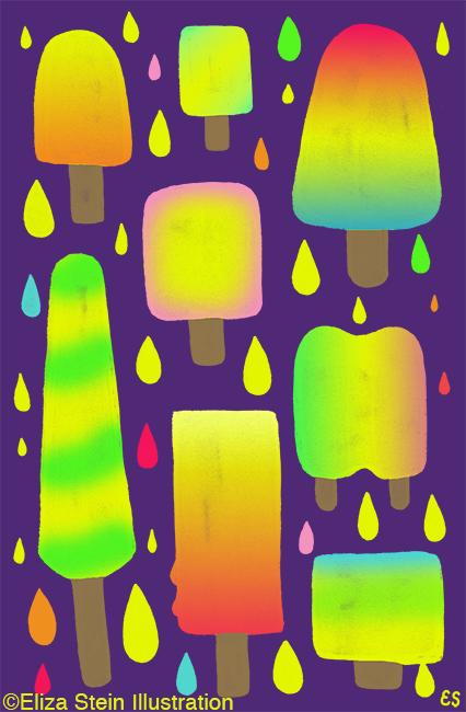 ice pops illustration