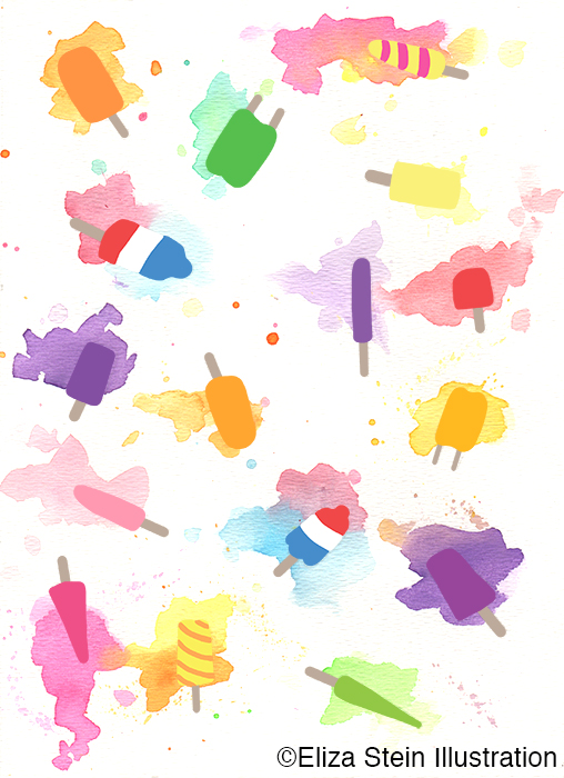 melted popsicle illustration