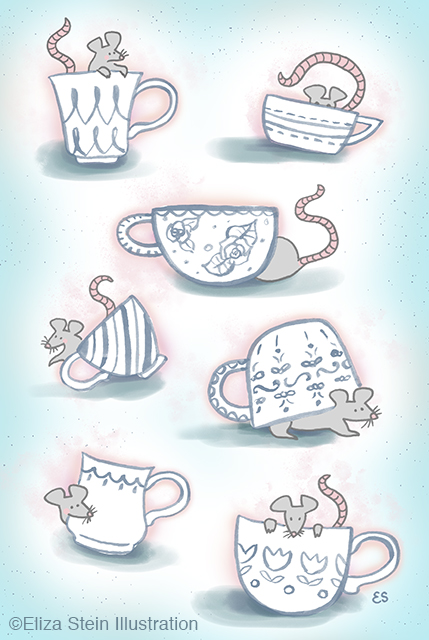 Teacup Mice Illustration