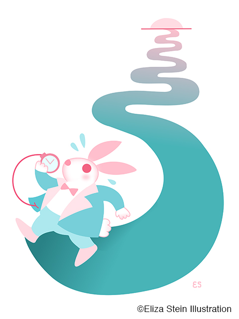 White Rabbit Illustration