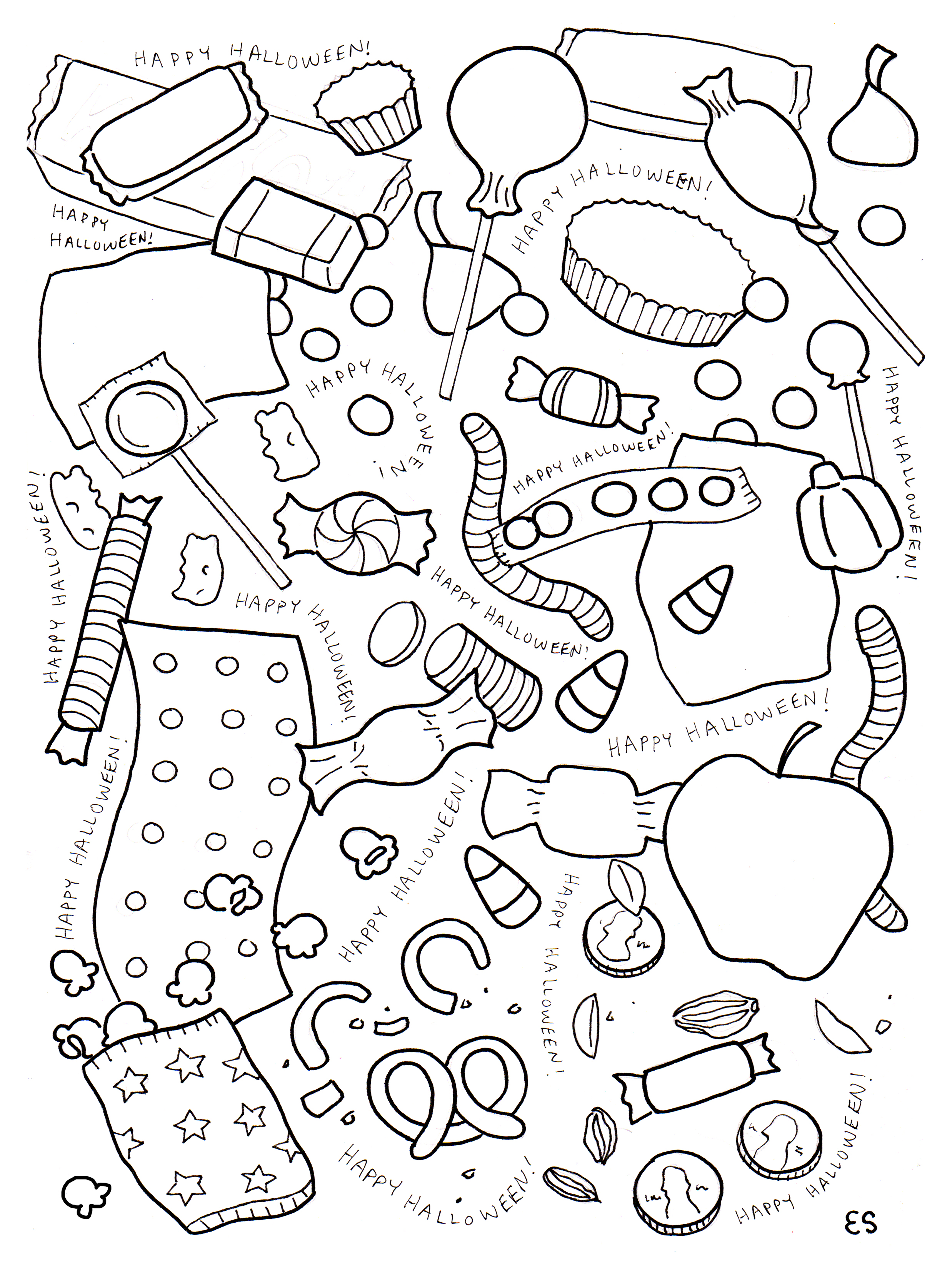 86 Halloween Candy Coloring Pages Candy Coloring Pages