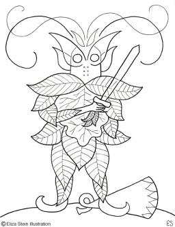 Elfin Knight Illustration