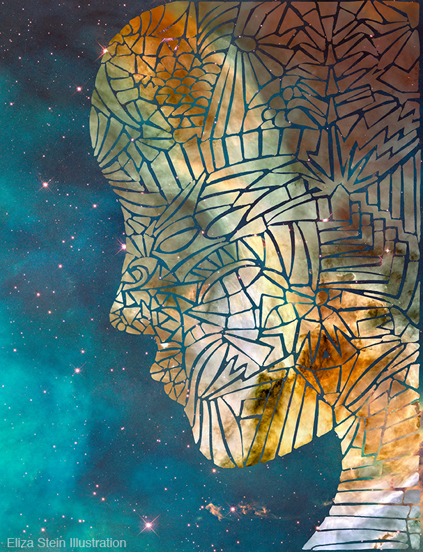 Fragmented Head Illustration