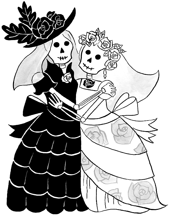 Catrina Couple Illustration