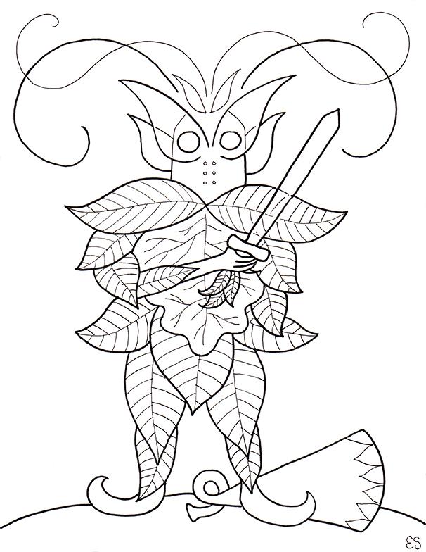 The Elfin Knight Illustration