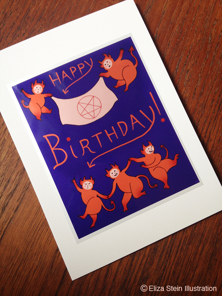 Satanic Birthday Card Photo