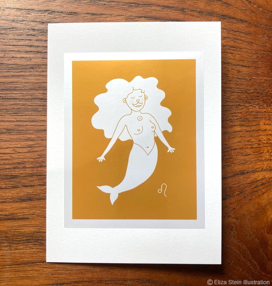 Leo Zodiac Greeting Card