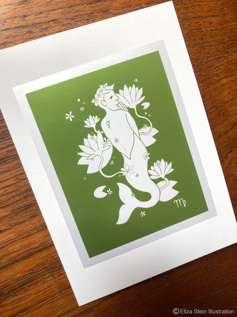 Virgo Zodiac Greeting Card