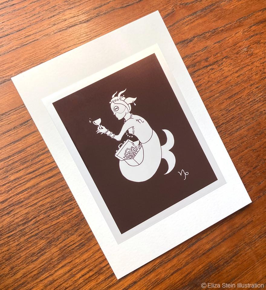 Capricorn Zodiac Greeting Card
