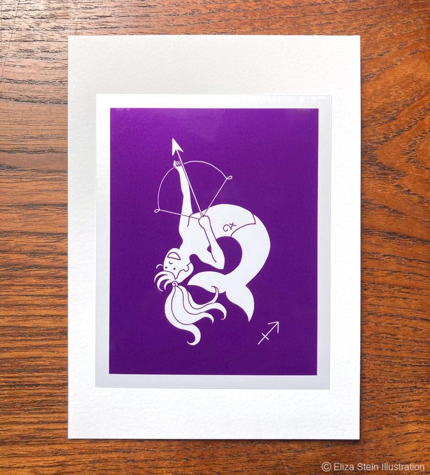 Sagittarius Zodiac Greeting Card